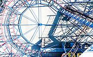 """Le parc de jeux """"Happyland"""" a Granges en Valais (Suisse), est une place de jeux et d'attractions pour enfant qui est ferme a cause du conoravisus, photographie le 26 mars 2020. (Studio54/ OLIVIER MAIRE)<br /> <br /> The """"Happyland"""" play park in Granges in Valais (Switzerland) is a play area and amusement park for children which is closed due to conoravisus, photographed on March 26, 2020."""