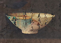 Bowl and calligraphy photo illustration.