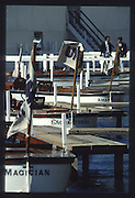 """Henley on Thames. United Kingdom. Umpires Launches, """"Magician"""", """"Enchantress"""", """"Amaryllis""""moored by the Bridge Bar at the 1990 Henley Royal Regatta, Henley Reach, River Thames. 06/07.1990<br /> <br /> [Mandatory Credit; Peter SPURRIER/Intersport Images] 1990 Henley Royal Regatta. Henley. UK"""