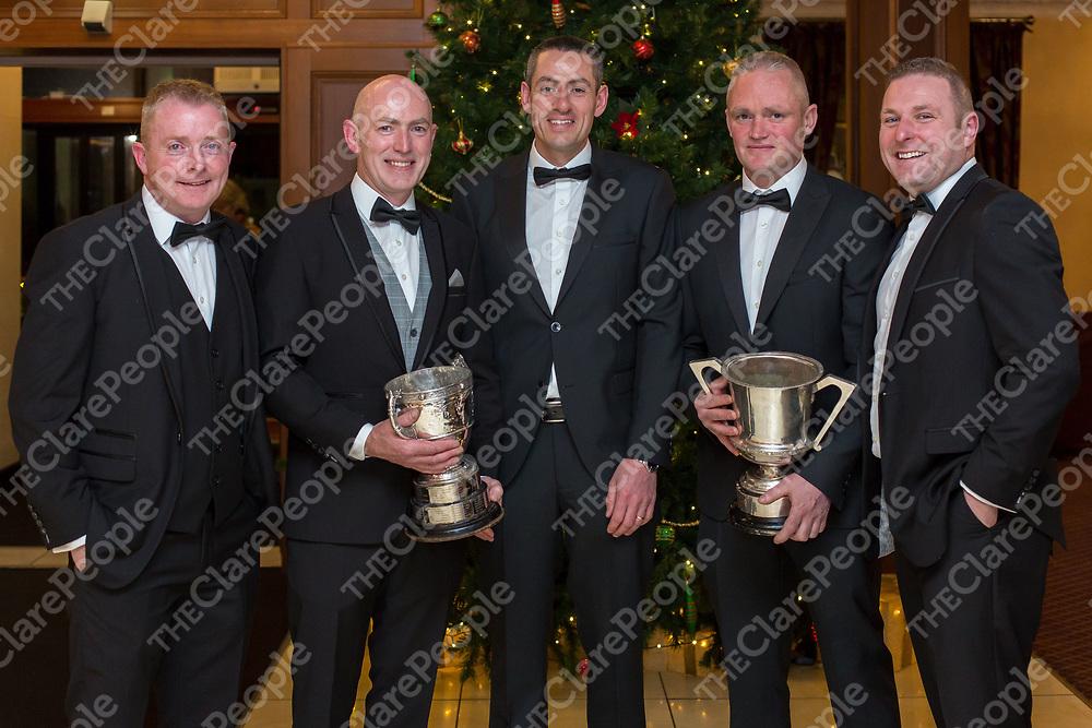 Ballyea Management Team Diarmuid O'Sullivan, Robbie Hogan, Fergal Hegarty, Raymond O'Connor and Alan Duggan