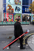 As England finishes its second Coronavirus pandemic lockdown, and London enters a Tier 2 restriction, Londoners visit Oxford Street in the West End to start their Christmas high street shopping, on 2nd December 2020, in London, England.