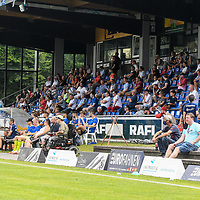 01.08.2020, C-Team Arena, Ravensburg, GER, WFV-Pokal, FV Ravensburg vs SSV Ulm 1846 Fussball, <br /> DFL REGULATIONS PROHIBIT ANY USE OF PHOTOGRAPHS AS IMAGE SEQUENCES AND/OR QUASI-VIDEO, <br /> im Bild Zuschauer mit Corona-Abstand<br /> <br /> Foto © nordphoto / Hafner