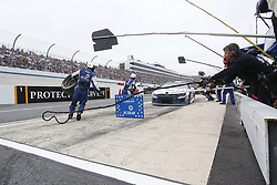 May 6, 2018 - Dover, Delaware, United States of America - Kyle Larson (42) brings his car down pit road for service during the AAA 400 Drive for Autism at Dover International Speedway in Dover, Delaware. (Credit Image: © Chris Owens Asp Inc/ASP via ZUMA Wire)