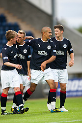 Farid El Alagui celebrates after scoring their first goal..Falkirk 1 v 0 Dundee, Ramsdens Cup Second Round, 9th August 2011.