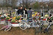 Kazimierz cemetery, Poland, on All Saints Day.