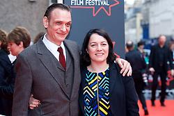"Niall Fulton and Diane Henderson(Deputy Artistic Director), on the red carpet at the Edinburgh International Film Festival world Premier of ""England is Mine"" at Edinburgh's Festival Theatre. Sunday, 2nd July, 2017(c) Brian Anderson | Edinburgh Elite media"