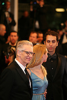 David Cronenberg, Sarah Gadon, Brandon Cronenberg attending the gala screening of The Sapphires at the 65th Cannes Film Festival. Saturday 19th May 2012 in Cannes Film Festival, France.