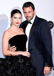 Sara Sampaio and Oliver Ripley attending the 26th amfAR Gala held at Hotel du Cap-Eden-Roc during the 72nd Cannes Film Festival. Picture credit should read: Doug Peters/EMPICS