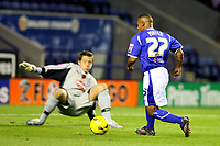 Photo: Pete Lorence.<br />Leicester City v Plymouth Argyle. Coca Cola Championship. 11/11/2006.<br />Levi Porter dodges Luke McCormick and scores Leicester's second goal.