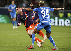 October 2, 2018 - France - Aymeric Laporte 14, during the UEFA Champions League group F football match between TSG 1899 Hoffenheim and Manchester City at the Rhein-Neckar-Arena in Sinsheim, southwestern Germany, on October 2, 2018. (Credit Image: © Panoramic via ZUMA Press)