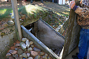 """The root cellar mentioned in the Gordon MacQuarrie story, """"Bluebill Day""""."""