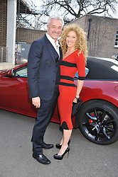 JOHN GARDINER and KELLY HOPPEN at a VIP dinner hosted by Maserati following the unveiling of the new Maserati 'Quattroporte' at The Hurlingham Club, London on 17th April 2013.
