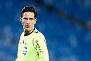 Referee Munuera Montero looks on during the La Liga match between Real Sociedad CF and FC Barcelona at Reale Arena on March 21, 2021 in San Sebastian, Spain.