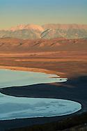 Overlooking Mono Lake at sunset looking toward the distant White Mountains, Eastern Sierra, Mono County, California