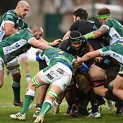 Treviso 02/01/2021 Stadio Monigo<br /> Guinness PRO14 <br /> Benetton Treviso vs Zebre <br /> <br /> una maul con al centro Maxime Mbanda'
