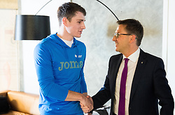 Robert Renner and Roman Dobnikar during press conference of The Athletic Federation of Slovenia and their best athletes before summer season 2016, on May 16, 2016, in Maximarket, Ljubljana, Slovenia. Photo by Vid Ponikvar / Sportida