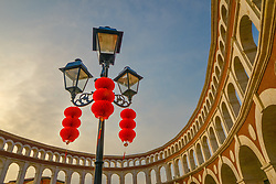 May 31, 2017 - Tianjin, Tianjin, China - Tianjin, CHINA-Jan 15 2017: (EDITORIAL USE ONLY. CHINA OUT)..The Florence Town Outlets is the first Italian style shopping center in north China's Tianjin. (Credit Image: © SIPA Asia via ZUMA Wire)