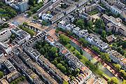 Nederland, Zuid-Holland, Rotterdam, 15-07-2012; Binnenstad, Westersingel, Van Oldenbarneveltstraat, Eendrachtsweg en Eendrachtsplein.Residential district in the center of Rotterdam, Westersingel (canal).  luchtfoto (toeslag), aerial photo (additional fee required).foto/photo Siebe Swart.luchtfoto (toeslag), aerial photo (additional fee required).foto/photo Siebe Swart