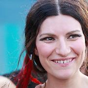 NLD/Amsterdam/20110727 - Clip opname Italiaanse zangeres Laura Pausini in Amsterdam,