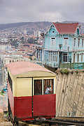 Cable car or funicular, Valparasio, Chile.