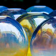 Elegant glass bowls (Murano, italy - Jun. 2008) (Image ID: 080616-1451221a)