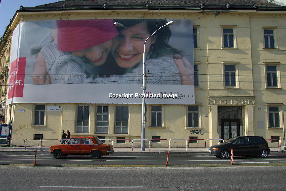 advertisment of T-mobile in Bratislava, Slovakia