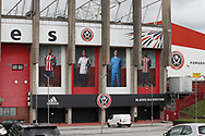 Giant banners are fixed to show solidarity to all NHS carers and workers at the Bramall Lane Stadium, Sheffield. Picture date: 5th May 2020. Picture credit should read: Simon Bellis/Sportimage
