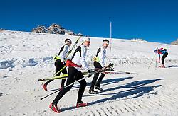 Vesna Fabjan, Barbara Jezersek during Training camp of Slovenian Cross country Ski team on October 23, 2012 in Dachstein Getscher, Austria. (Photo By Vid Ponikvar / Sportida)