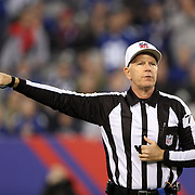 A referee in action during the New York Giants Vs Green Bay Packers, NFL American Football match at MetLife Stadium, East Rutherford, New Jersey, USA. 17th November 2013. Photo Tim Clayton
