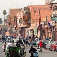 North Africa, Africa, Morocco, Marrakesh. Street Scene.