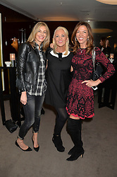 """Left to right, KIM HERSOV, AMANDA ELIASCH and HEATHER KERZNER at a private screening Of """"The Gun, The Cake and The Butterfly"""" hosted by Amanda Eliasch at The Bulgari Hotel, 171 Knightsbridge, London on 24th March 2014."""