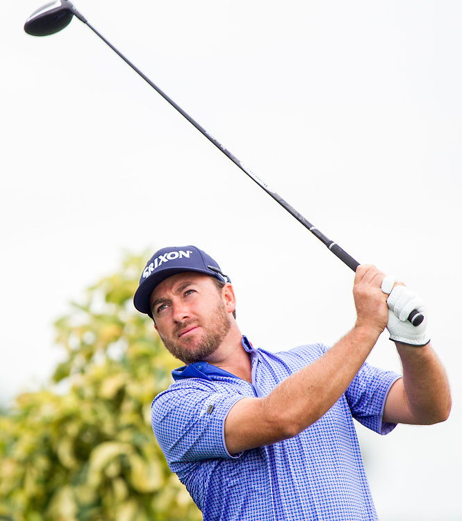 Feb 26, 2015; Palm Beach Gardens, FL, USA; Graeme McDowell during the first round of the Honda Classic at PGA National GC Champion Course. Mandatory Credit: Peter Casey-USA TODAY Sports
