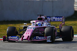 March 1, 2019 - Barcelona, Catalonia, Spain - March 1st, 2019 - Circuit de Barcelona-Catalunya, Montmelo, Spain - Formula One preseason 2019; Sergio Perez of SportPesa Racing Point F1 Team during the afternoon session of the day 8. (Credit Image: © Marc Dominguez/ZUMA Wire)