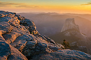 Half Dome as seen from the summit of Clouds Rest at sunset, Yosemite National Park, California
