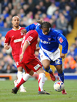 Photo: Ashley Pickering.<br />Ipswich Town v Southend United. Coca Cola Championship. 10/03/2007.<br />Jaime Peters of Ipswich (R) gets around Mark Gower of Southend