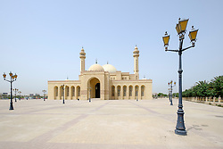 Exterior view of Al Fateh Grand Mosque in Kingdom of Bahrain