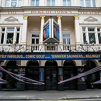 Blithe Spirit at The Duke of York's Theatre;<br />Theatres in lockdown;<br />West End Theatreland, London, UK;<br />7th July 2020.<br /><br />© Pete Jones<br />pete@pjproductions.co.uk