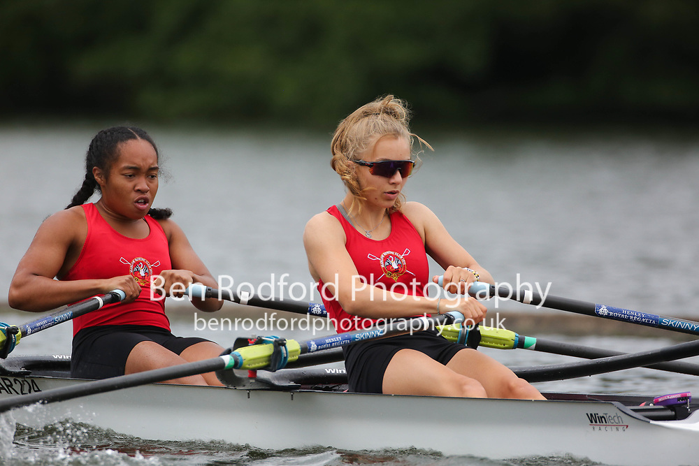 Junior 2x  Heat<br /> <br /> Marlow RC (B)<br /> Reading RC <br /> <br /> Henley Women's Regatta 2021<br /> Saturday