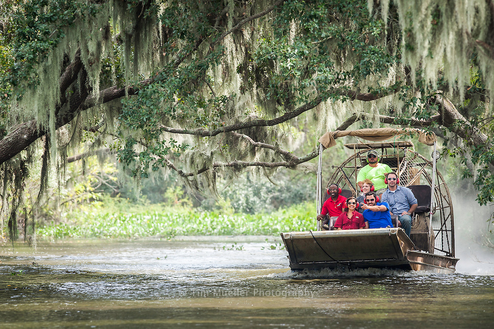 Airboat Tours by Arthur Matherne take tourist deep into the cypress swamps where one can see beautiful moss-draped trees, open marsh and wildlife.