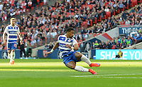Reading's Garath McCleary scores his sides first goal  <br /> <br /> Photographer Ian Cook/CameraSport<br /> <br /> Football - The FA Cup Semi-Final - Reading v Arsenal - Saturday 18th April 2015 - Wembley - London<br /> <br /> © CameraSport - 43 Linden Ave. Countesthorpe. Leicester. England. LE8 5PG - Tel: +44 (0) 116 277 4147 - admin@camerasport.com - www.camerasport.com