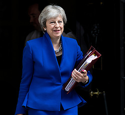© Licensed to London News Pictures. 20/06/2018. London, UK. Prime Minister Theresa May leaves 10 Downing Street. Photo credit: Rob Pinney/LNP
