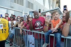Alabama Crimson Tide fans during the team walk prior to the Chick-fil-A Kickoff Game at the Mercedes-Benz Stadium, Saturday, August 31, 2019, in Atlanta. (Vasha Hunt via Abell Images for Chick-fil-A Kickoff)