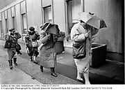 Ladies in the rain. Manhattan. 1992.<br />