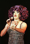 Skoda Fringe Gala at Our Dynamic Earth, Edinburgh: Drag-star Sassy previewing her show entitled Torch Song Sassy which is playing as part of the Edinburgh Festival Fringe..