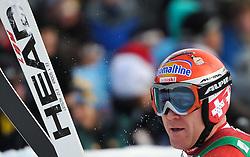 21.01.2011, Hahnenkamm, Kitzbuehel, AUT, FIS World Cup Ski Alpin, Men, Super G, im Bild // Didier Cuche (SUI) // during the men super g race at the FIS Alpine skiing World cup in Kitzbuehel, EXPA Pictures © 2011, PhotoCredit: EXPA/ S. Trimmel