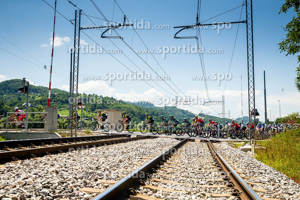 Peloton over railroad during 2nd Stage of 26th Tour of Slovenia 2019 cycling race between Maribor and  Celje (146,3 km), on June 20, 2019 in Celje, Maribor, Slovenia. Photo by Vid Ponikvar / Sportida