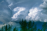 Cumulonimbus thunderhead developing over the Colorado plains.