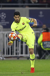 February 20, 2019 - Lyon, France - Luis Suarez during the UEFA Champions League round of 16 first leg football match between Lyon (OL) and FC Barcelona on February 19, 2019, at the Groupama Stadium in Decines-Charpieu, central-eastern France. (Credit Image: © Mehdi Taamallah/NurPhoto via ZUMA Press)