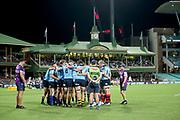 Waratahs huddle. NSW Waratahs v ACT Brumbies. 2021 Super Rugby AU Round 7 Match. Played at Sydney Cricket Ground on Friday 2 April 2021. Photo Clay Cross / photosport.nz