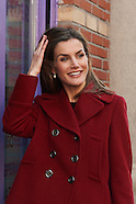 012715 Queen Letizia attends a meeting with Board of FEDER